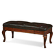 A.R.T. Old World Leather Storage Bench in Warm Pomegranate