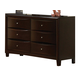 Coaster Phoenix Youth Dresser in Cappuccino 400183