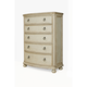 A.R.T. Provenance Five Drawer Chest in Distressed Ivory
