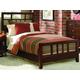 American Drew Tribecca Queen Slat Bed in Brown