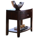 American Drew Tribecca Leg Nightstand in Brown