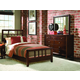 American Drew Tribecca Slat Bedroom Set with Nightstand