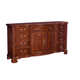 American Drew Cherry Grove Door Triple Dresser in Cherry 791-160