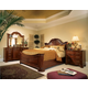 American Drew Cherry Grove 4-Piece Mansion Bedroom Set in Cherry