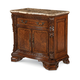 A.R.T. Old World Marble Top Nightstand in Warm Pomegranate
