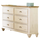 Liberty Furniture Ocean Isle Youth 6 Drawer Dresser 303-BR33