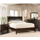 Coaster Furniture Phoenix Finish Leather Bedroom Set in Cappuccino 200410