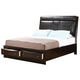 Coaster Phoenix King Platform Storage Bed in Cappuccino 200419KE