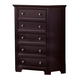 Coaster Sandy Beach 5 Drawer Chest in Cappuccino 201995