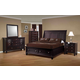 Coaster Sandy Beach Platform Storage Bedroom Set in Cappuccino 201990