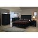 Coaster Sandy Beach Platform Storage Bedroom Set in Black 201329