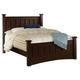 Coaster Harbor Queen Panel Bed in Cappuccino 201381Q