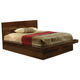 Coaster Jessica Cal King Platform Bed in Cappuccino 200711KW