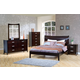 Coaster Stuart Platform Bedroom Set in Cappuccino 200300