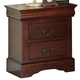Standard Furniture Lewiston Nightstand in Deep Brown 80407