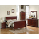 Standard Furniture Lewiston Panel Bedroom Set in Deep Brown