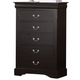 Standard Furniture Lewiston 5 Drawer Chest in Black