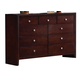 Coaster Serenity 9 Drawer Dresser in Merlot 201973