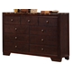 Coaster Conner Dresser in Walnut 200423
