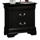 Coaster Louis Philippe Nightstand in Black 203962