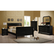 Coaster Louis Philippe Sleigh Bedroom Set in Black 203961