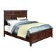 Standard Furniture Sonoma Queen Panel Bed in Dark Brown 86601