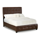 Standard Furniture Madison Square Queen PVC Faux Leather Bed in Brown 55661