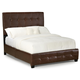 Standard Furniture Madison Square King PVC Faux Leather Bed in Brown 55662
