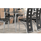 Coaster Los Feliz Dining Table in Silver 101681