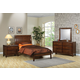 Coaster Hillary Scottsdale Youth 4pc Platform Bedroom Set in Chocolate Brown 400281