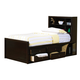 Coaster Phoenix Youth Twin Chest Bed in Cappuccino 400180T