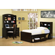 Coaster Phoenix Youth 4pc Chest Bed Bedroom Set in Cappuccino 400180