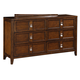 Samuel Lawrence Furniture SLD Bayfield Drawer Dresser in Sienna Finish 8280-010