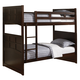 Coaster Jasper Youth Twin Bunk Bed in Cappuccino 460136