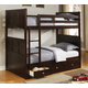 Coaster Jasper Youth 4pc Twin Bunk Bedroom Set in Cappuccino 460136