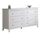 Coaster Youth Selena Dresser in White 400233