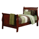 Coaster Louis Philippe Youth Full Sleigh Bed in Cherry 200431F