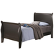 Coaster Louis Philippe Youth Twin Sleigh Bed in Black 201071T