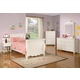 Coaster Pepper Youth 4pc Sleigh Bedroom Set in White 400360