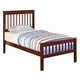 Coaster Parker Youth Twin Slat Panel Bed in Cappuccino 400290T