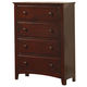 Coaster Parker Youth Chest in Cappuccino 400295