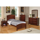 Coaster Parker Youth 4pc Twin Panel Bedroom Set in Cappuccino 400291T