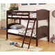 Coaster Parker Youth 4pc Bunk Bedroom Set in Cappuccino
