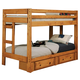 Coaster Youth Wrangle Hill Twin/Twin Bunk Bed w/ Underbed Storage