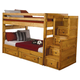 Coaster Youth Full/Full Bunk Bed w/ Underbed Storage and Stairway Chest