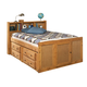 Coaster Youth Full Bookcase Bed in Brown 460090