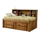 Coaster Wrangle Hill Twin Bookcase Bed in Brown 460091