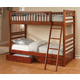 Coaster Youth Twin/Twin Bunk Bed in Brown Oak 460193