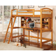 Coaster Youth Twin Workstation Loft Bed in Light Brown 460053