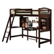 Coaster Youth Twin Workstation Loft Bed in Cappuccino 460063